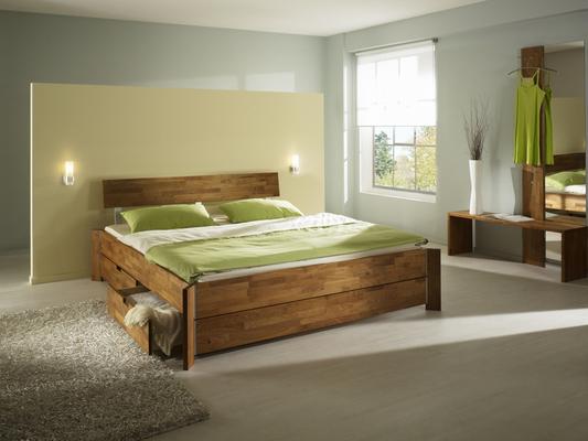doppelbett mit stauraum im eck stehendes doppelbett in. Black Bedroom Furniture Sets. Home Design Ideas